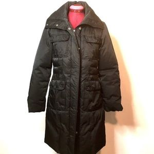 DKNY Puffer Down Parka XS Black Winter Coat